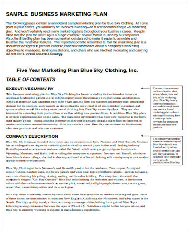 7 sample marketing plan template word sample templates for Corporate marketing plan template