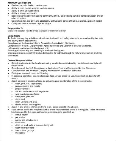 Dining Restaurant General Manager Job Description Photo