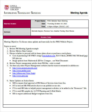 free meeting agenda example