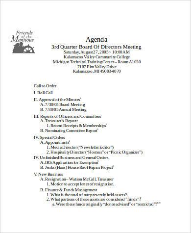 board meeting agenda format2