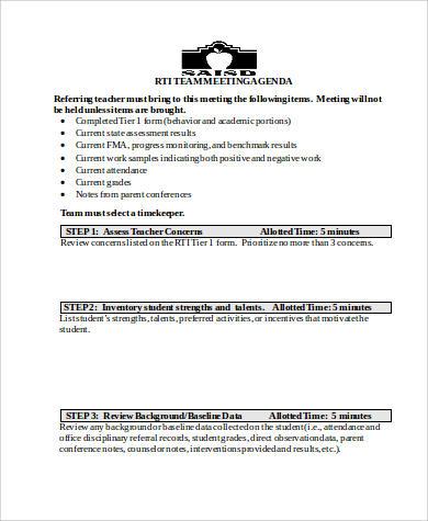Free 28 Agenda Samples In Ms Word