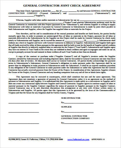 general contractors contract template - 10 sample contractor agreements pdf doc sample templates