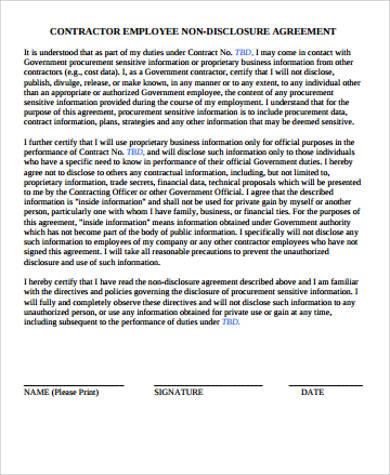 employer contractor agreement