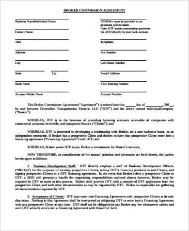 11 Sample Commission Agreements Word Pdf Pages