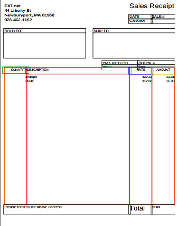 Sample Sales Receipt Form - 7+ Examples in Word, PDF