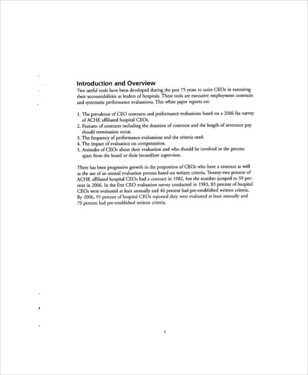 executive employment contract sample
