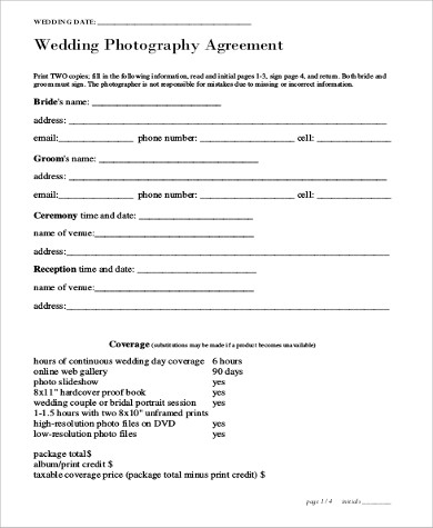 photography services contract great contract templates employment