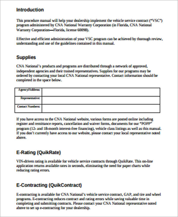 sample vehicle service contract1