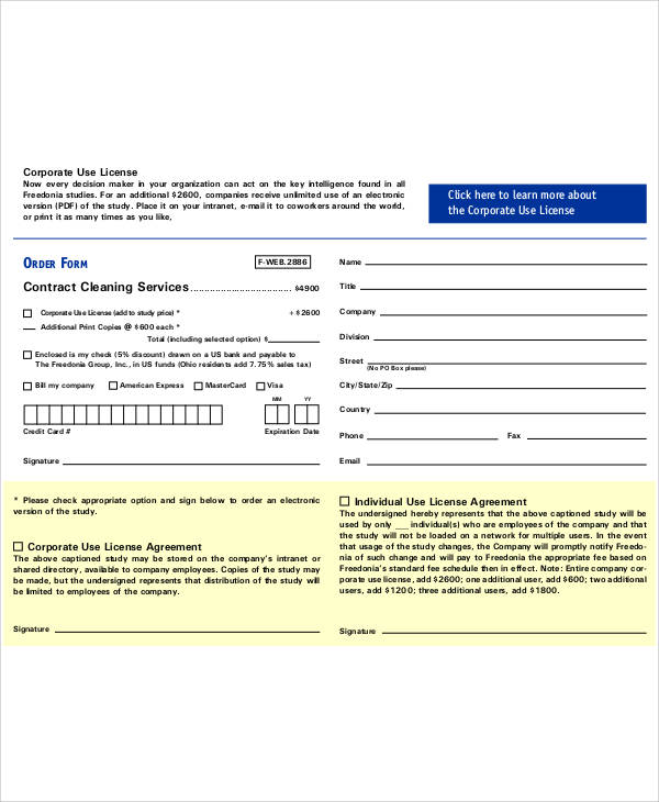 standard cleaning service contract1