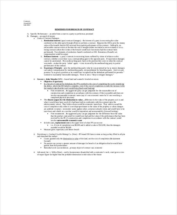 Breach Of Employment Contract Sample   Examples In Word Pdf