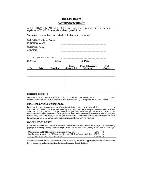 Service Contract Form Sample   Examples In Word Pdf