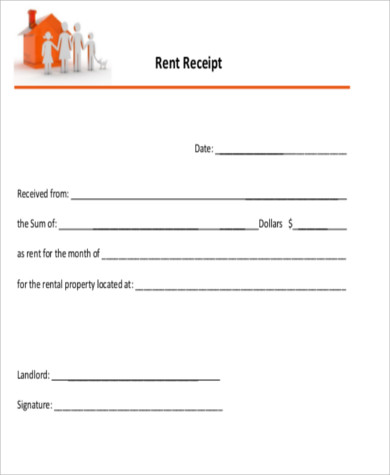 photograph about Printable Rent Receipt referred to as Pattern Lease Receipt PDF - 8+ Illustrations inside of Phrase, PDF