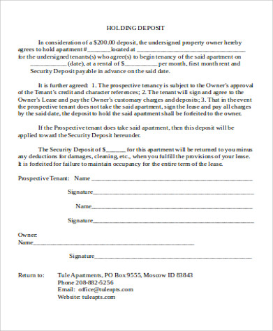 rent deposit receipt pdf