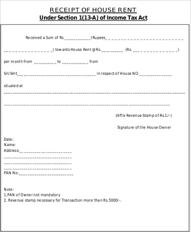 rent receipt income tax pdf
