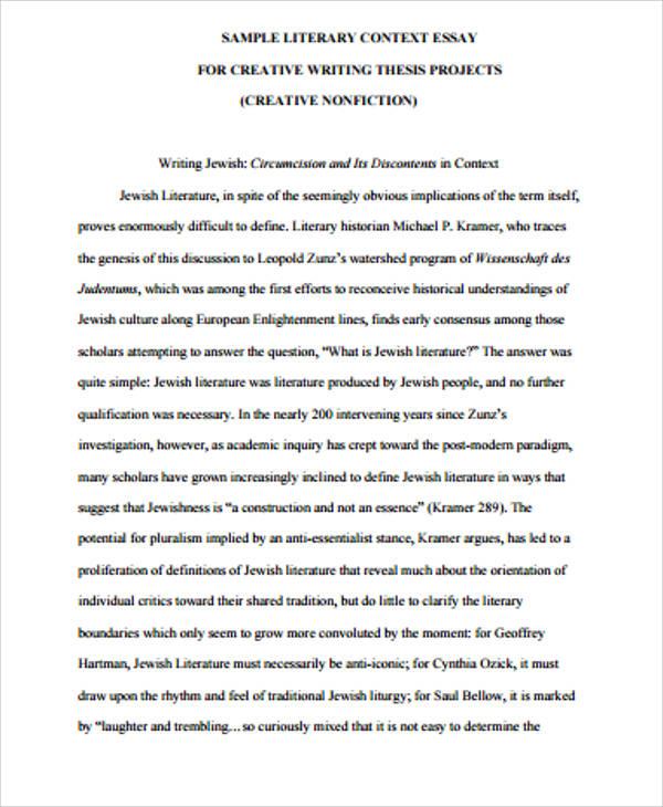 literary context essay