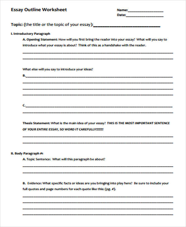 esl argumentative essay outline English 101 and 102 paragraph outline: non-persuasive essay note: these instructions apply to non-persuasive essays only for other essays.