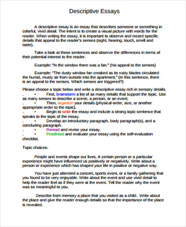 Essay Sample In Pdf - 12+ Examples In Pdf