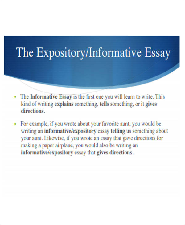 Sample Informative Essay - 6+ Examples In Word, Pdf