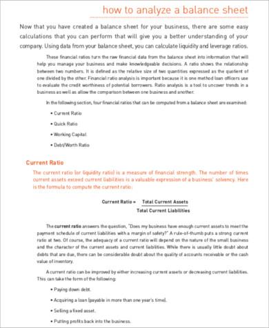 non profit balance sheet analysis pdf