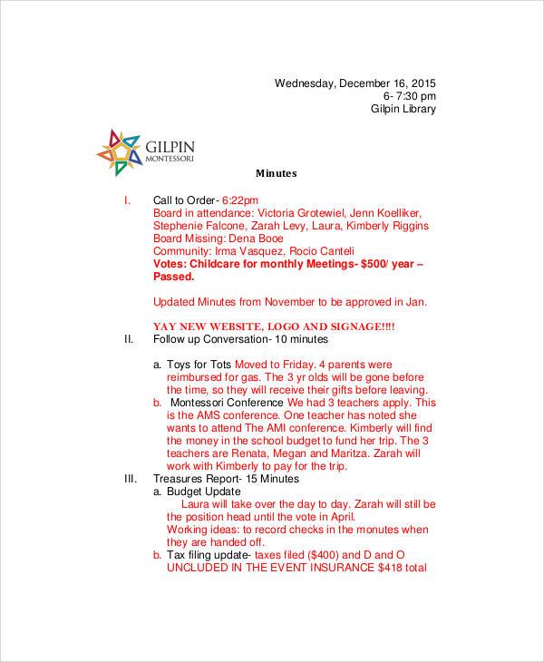large community event agenda