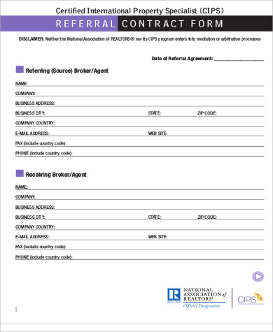 Sample Business Referral Agreement   Examples In WordPdf