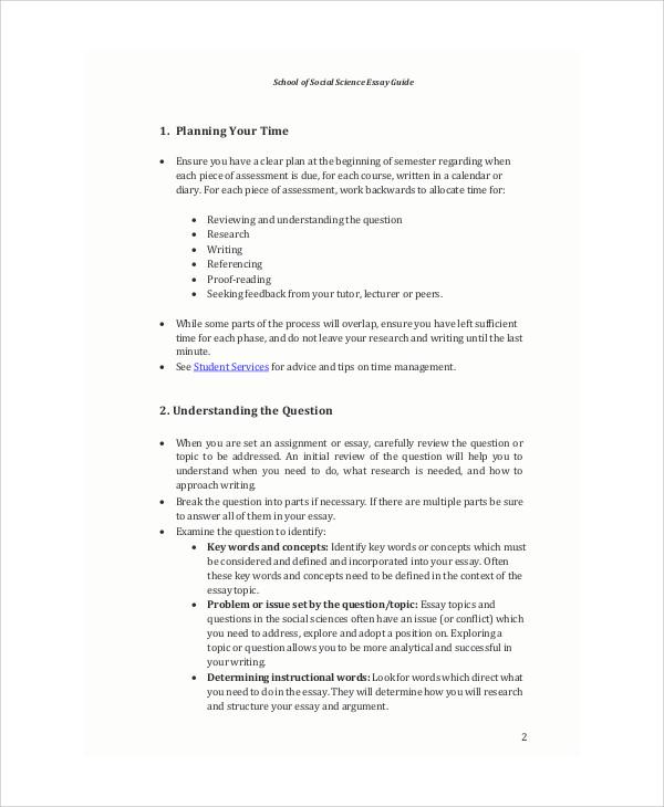 school essay guide example