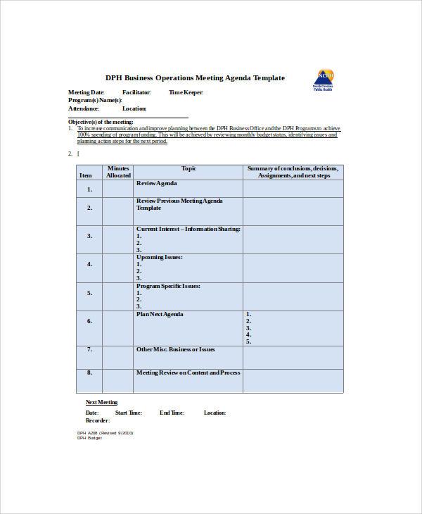 business meeting agenda3