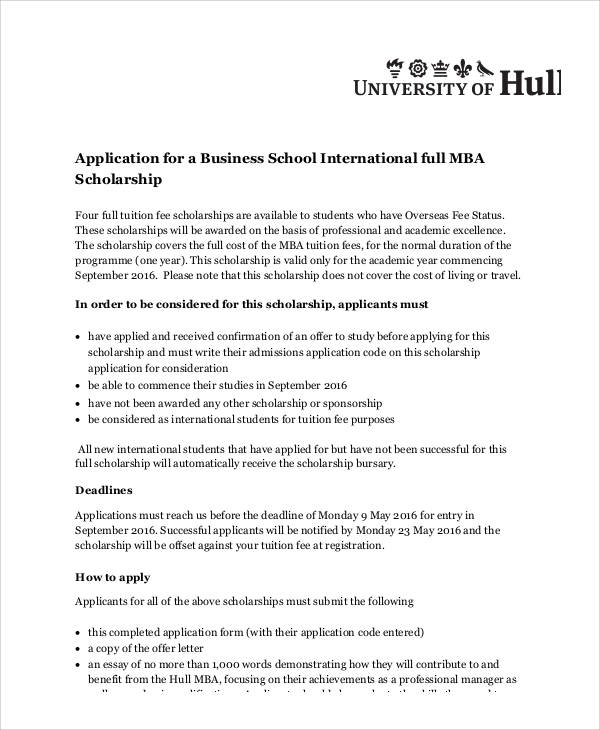 mba scholarship essay Maximize odds of earning a full ride to business school  the majority of mba scholarships and  the essay prompts in mba scholarship applications.