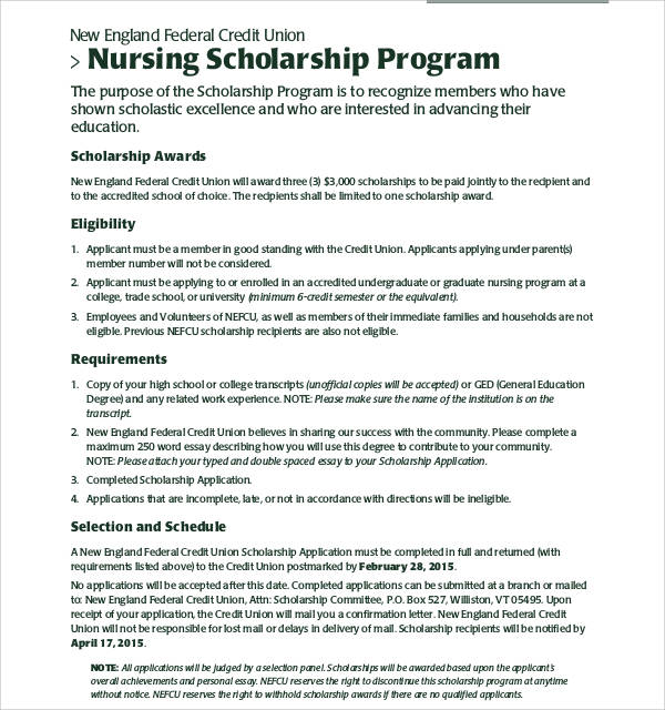 sample scholarship application essay examples in word pdf nursing scholarship application essay