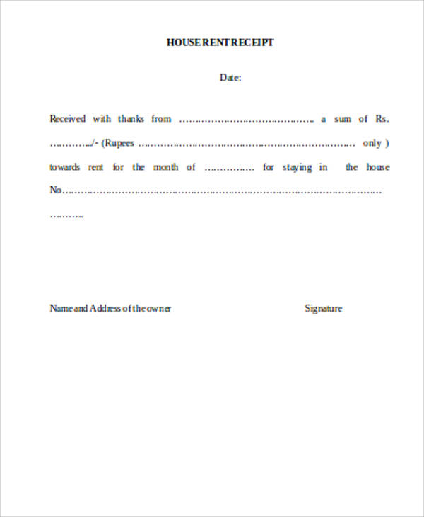 10 House Rent Receipts Format House Rent Receipt Rent Receipt – Rent Receipt Template Doc