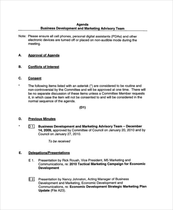 business development meeting agenda2