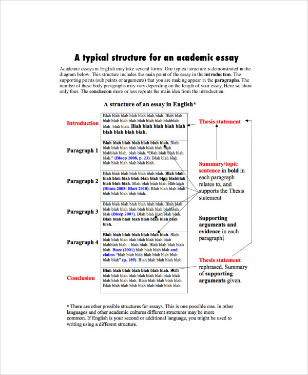 academic essay sample 7 examples in word pdf