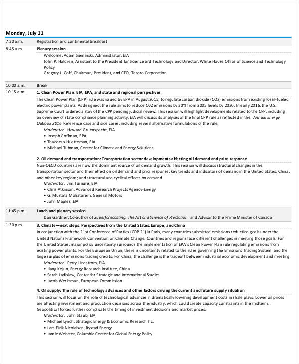 eia energy conference agenda