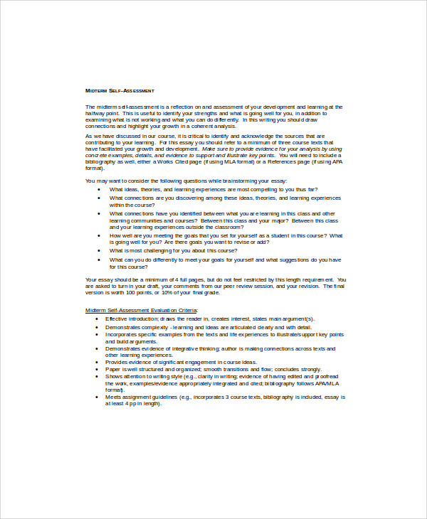 self evaluation of essay writing How to write a self-evaluation below are guidelines for current fairhaven students on how to write a narrative self-evaluation fairhaven self evaluation tips.