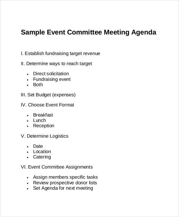 event committee meeting agenda1