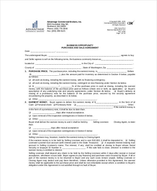 business opportunity listing agreement1