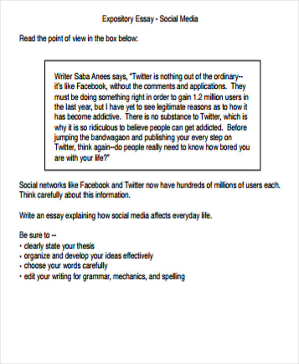 expository essay business Created 7/07 structure of a general expository essay the following maps a commonly used structure for many academic essays use this outline to guide you.