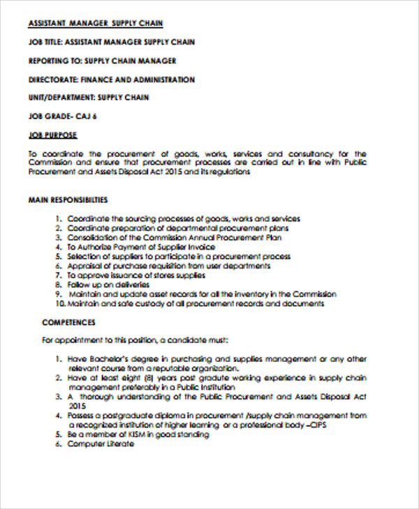 procurement manager job description pr assistant cover letter procurement manager job
