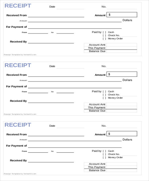 cash payment received letter form pdf