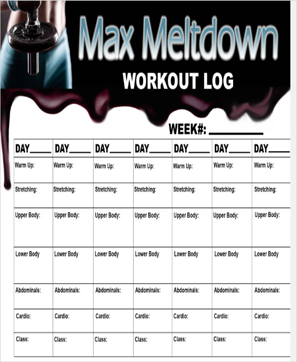 free 6  blank workout sheet samples in ms word