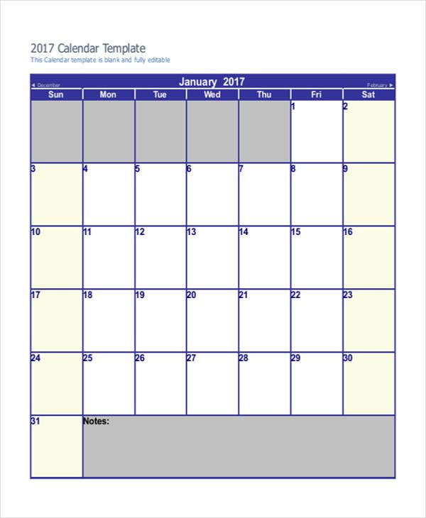 printable blank 2016 calendar pdf