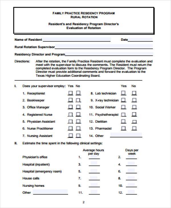 Sample Program Evaluation Form 9 Examples in Word PDF – Sample Program Evaluation Form