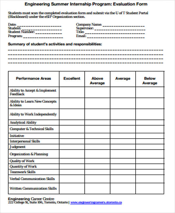 Sample Program Evaluation Form   Examples In Word Pdf