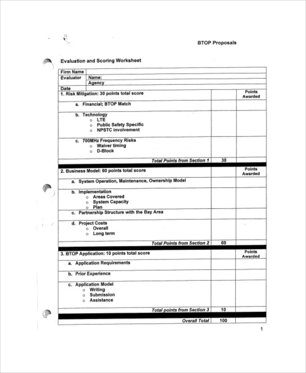 Sample Vendor Evaluation Form - 9+ Examples In Word, Pdf