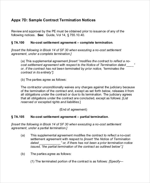 30 Sample Contract Agreements Sample Templates