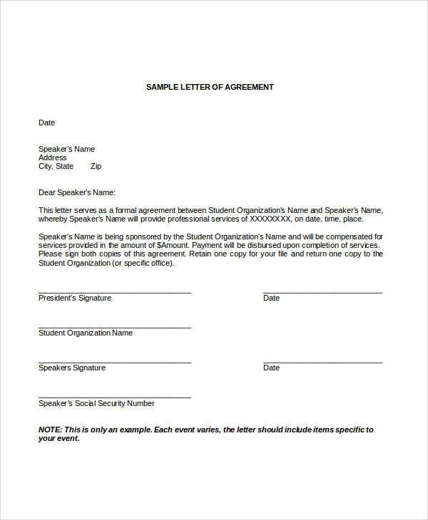 Sample Contract Agreement 30 Examples in Word PDF – Student Agreement Contract