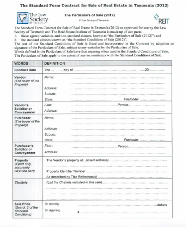 Simple Sales Contract Sample 9 Examples in Word PDF – Simple Sales Contract Form