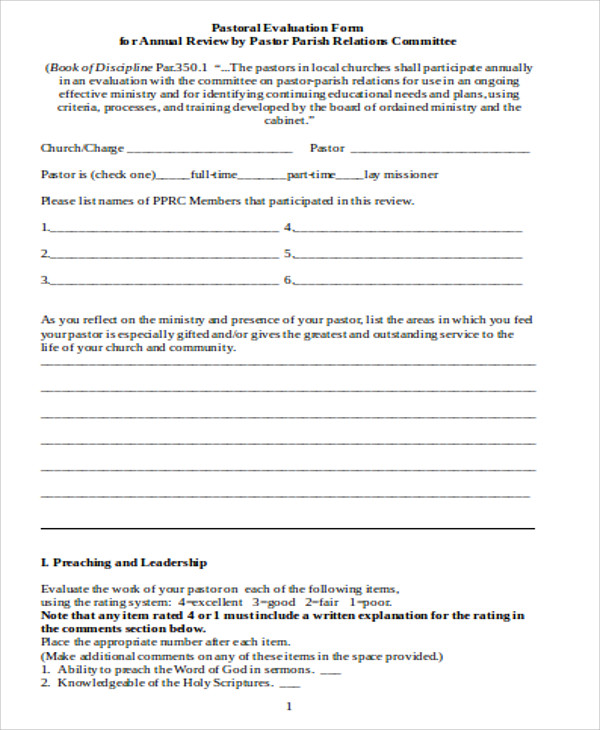 Sample Conference Evaluation Form In Word - 8+ Examples In Word