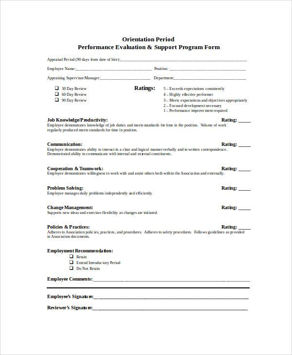 program evaluation form templates | trattorialeondoro