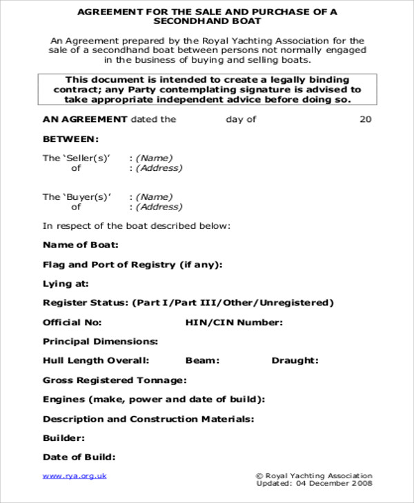 9 Sample Sales Agreement Contracts Sample Templates